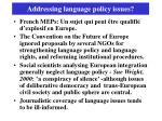 addressing language policy issues