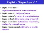 english a lingua franca