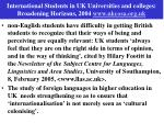 international students in uk universities and colleges broadening horizons 2004 www ukcosa org uk