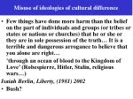misuse of ideologies of cultural difference