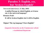 paradox 3 english yes but broken english