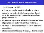 the atlantic charter 1941 extracts