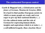 the continental european context