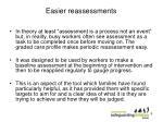 easier reassessments