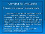 actividad de evaluaci n