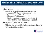 medically impaired driver law25
