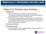 medically impaired driver law26