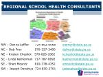 regional school health consultants