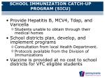 school immunization catch up program sicu