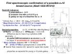 first spectroscopic confirmation of a possible z 10 lensed source abell 1835 ir1916
