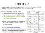 lbg at z 3