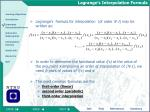 lagrange s interpolation formula