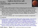 anglican church faces split