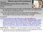 historic upset in eu parliament