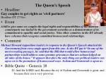 the queen s speech