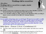 weddings fall to record low