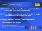carrier options africa