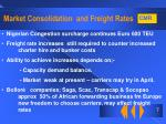 market consolidation and freight rates7