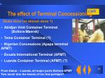 the effect of terminal concessioning