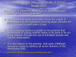 what is mmsr maryland model of school readiness