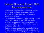 national research council 2000 recommendations