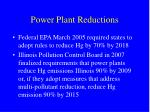 power plant reductions