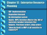 chapter 12 enterprise resource planning