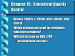 chapter 15 statistical quality control