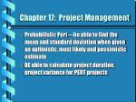 chapter 17 project management