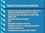 typical discussion problems