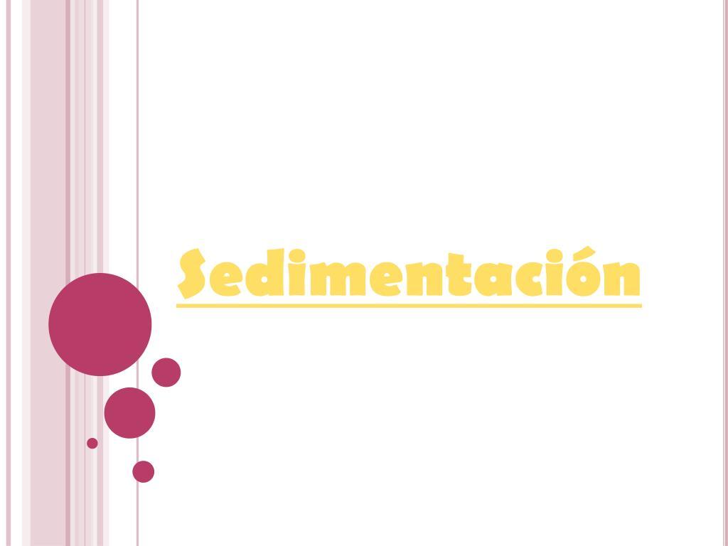 sedimentaci n l.