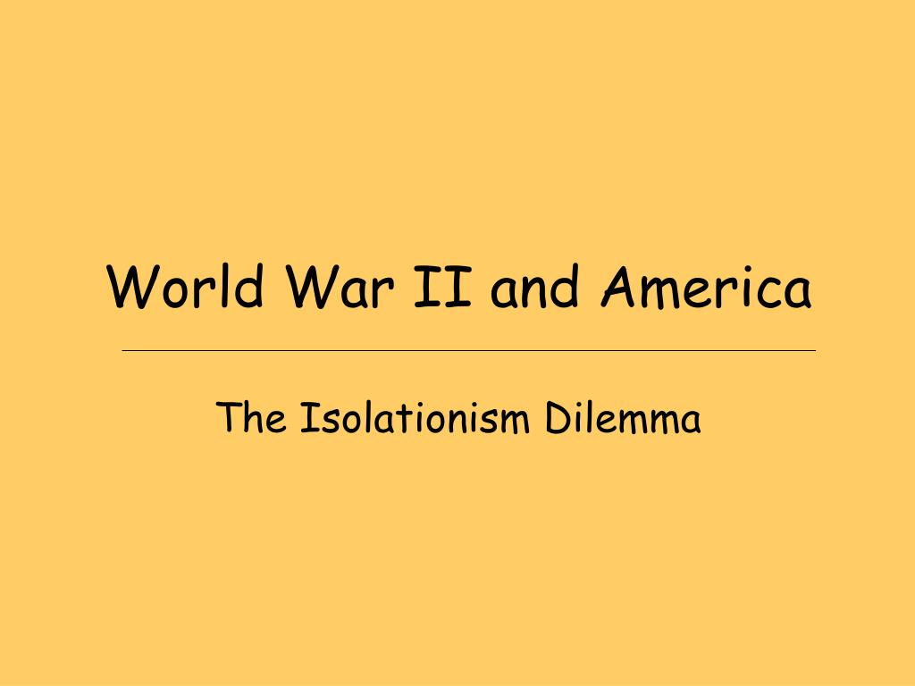 world war ii and america l.