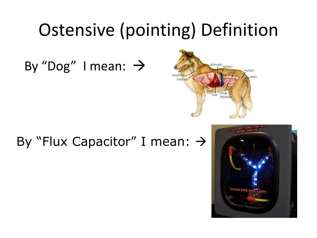 Ostensive (pointing) Definition