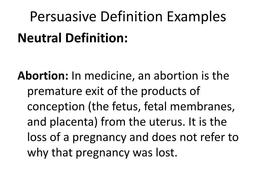 Persuasive Definition Examples