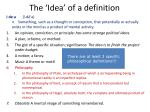 the idea of a definition