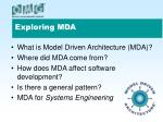 exploring mda