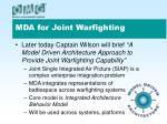 mda for joint warfighting