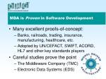 mda is proven in software development