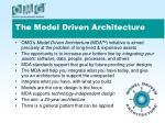 the model driven architecture