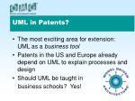 uml in patents