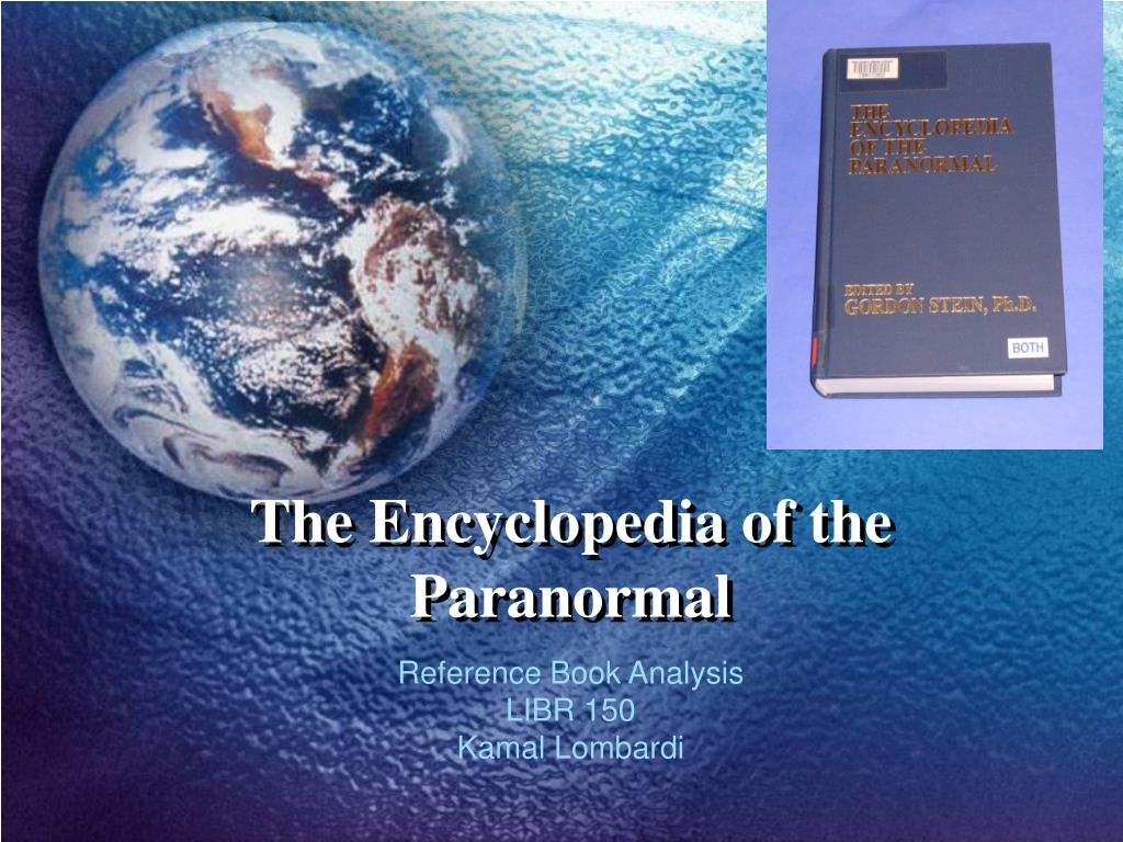 the encyclopedia of the paranormal l.