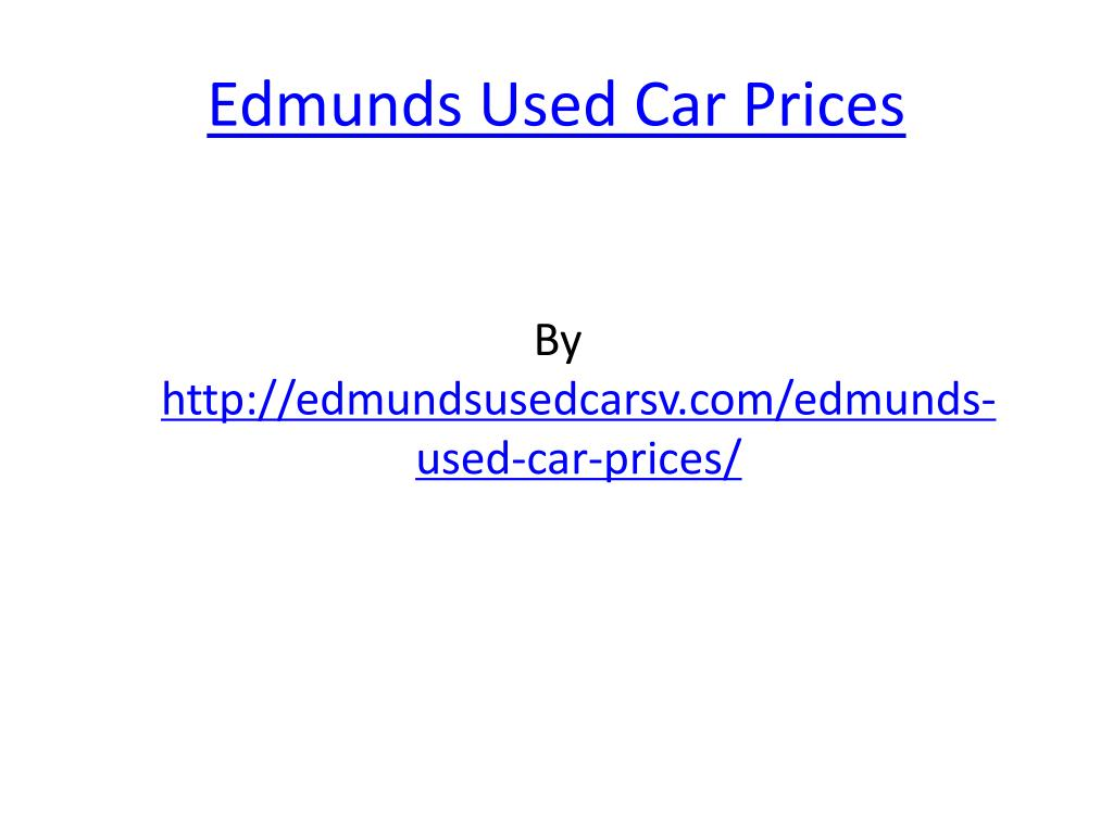 edmunds used car prices l.