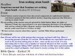 iran seeking atom bomb