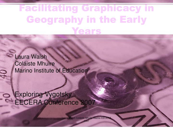 facilitating graphicacy in geography in the early years n.