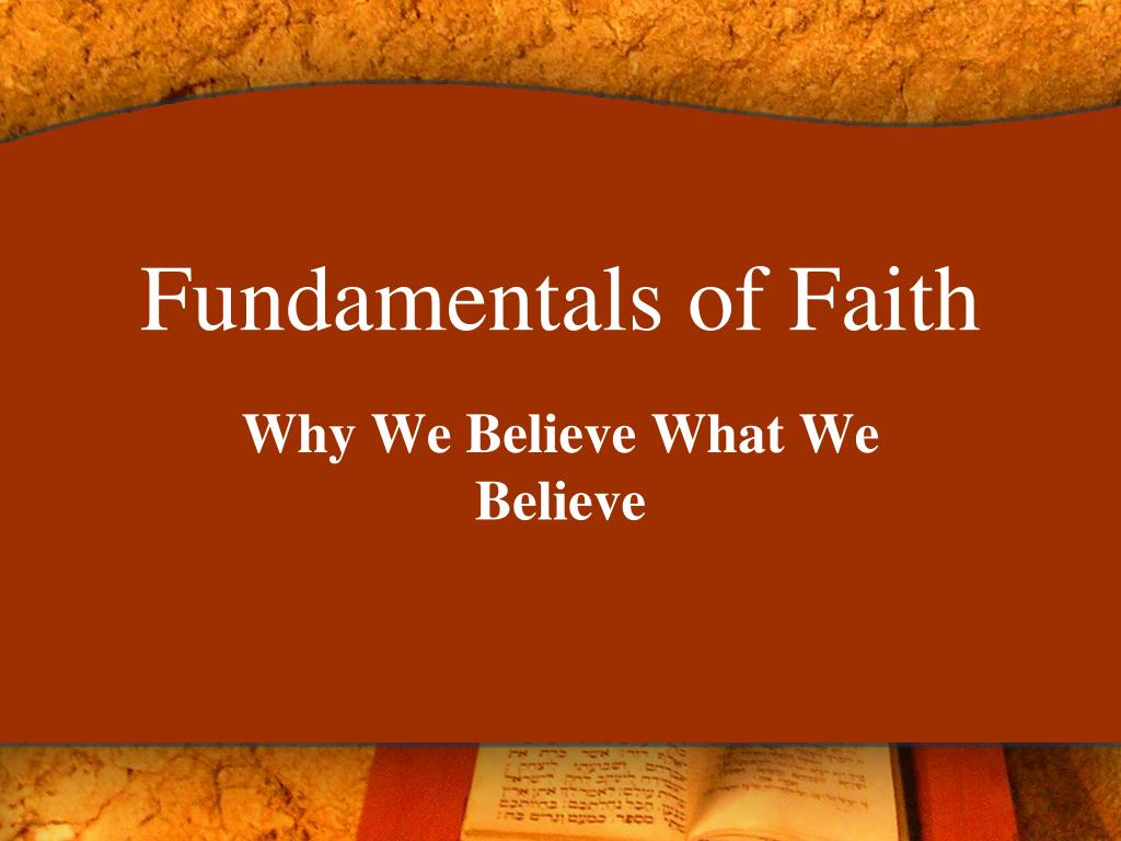 fundamentals of faith l.