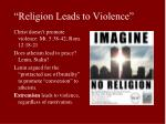 religion leads to violence8