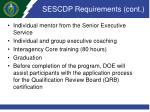 sescdp requirements cont