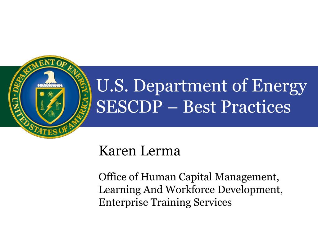 u s department of energy sescdp best practices l.