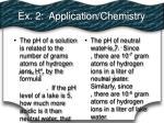 ex 2 application chemistry