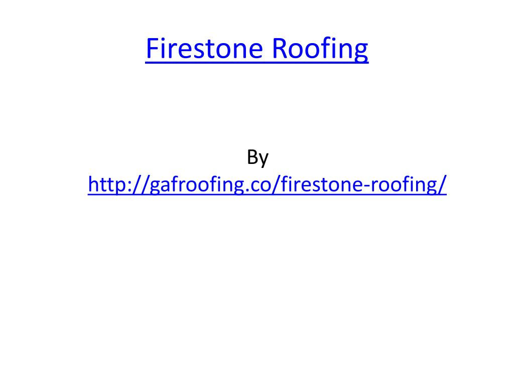 firestone roofing l.